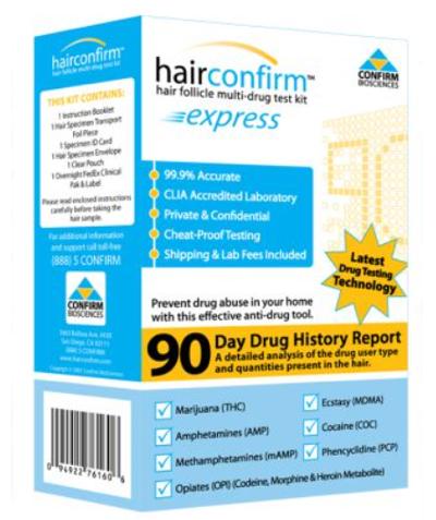 Hair Confirm Express Hair Drug Testing Kit