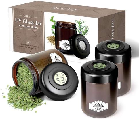 AIEVE UV-Proof Glass Jar