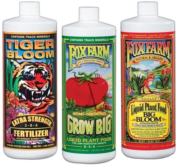 Fox Farm Liquid Nutrient Trio